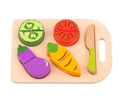 Cortando Vegetais, de Madeira, da Tooky Toy - Cód. TL143
