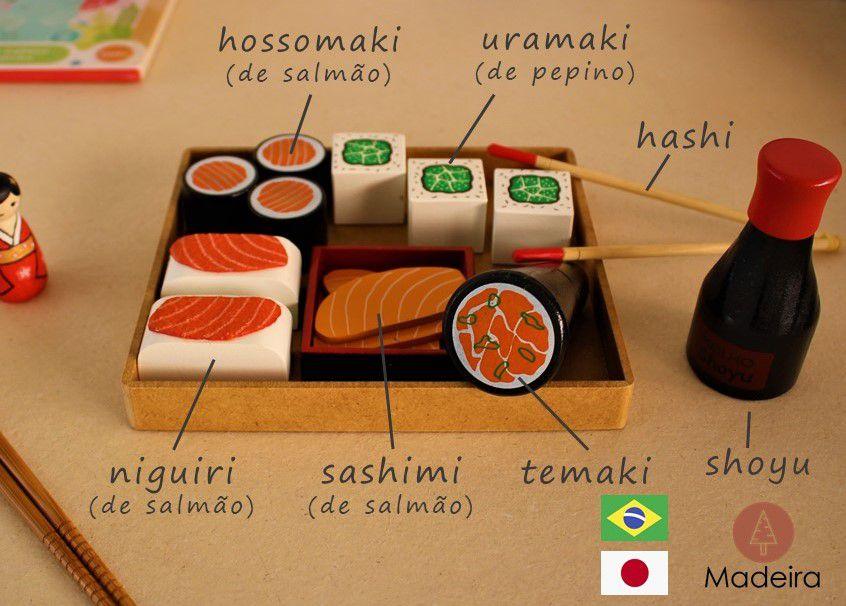 Coleção Comidinhas - Kit Sushi, da NewArt - Cód. 348