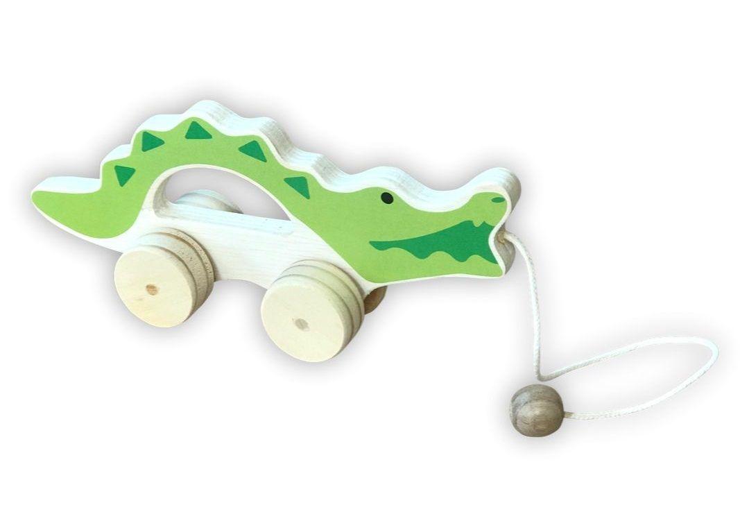 Brinquedo de Madeira - Jacaré de puxar, da Top Toy - Cód. Top-134