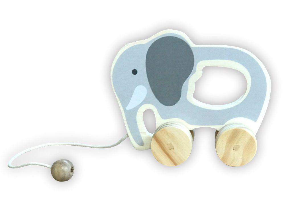 Brinquedo de madeira - Elefante de puxar, da Top Toy - Cód. Top-132
