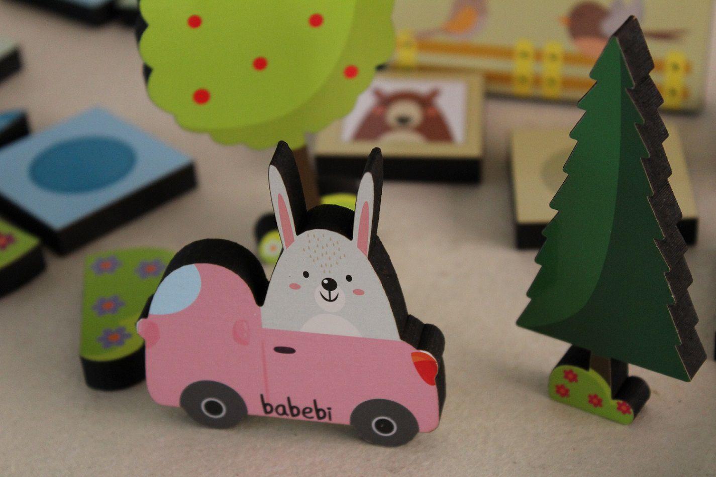 Brinquedo de madeira Baby Construtor, da BaBeBi - Cód. 6022