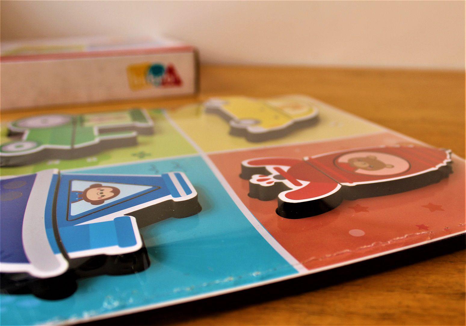 Brinquedo de madeira Quebra-Cabeça de Encaixe - Transportes, da BaBeBi - Cód. 6042
