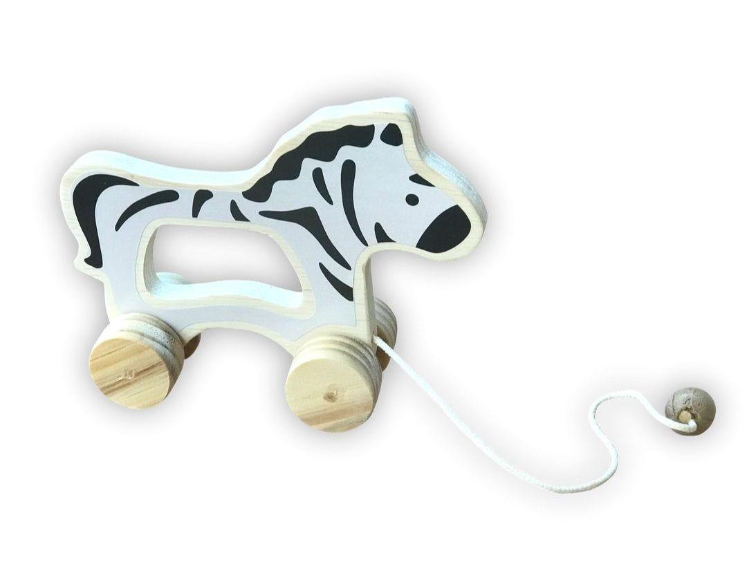 Brinquedo de madeira - Zebra de puxar, da Top Toy - Cód. Top-135