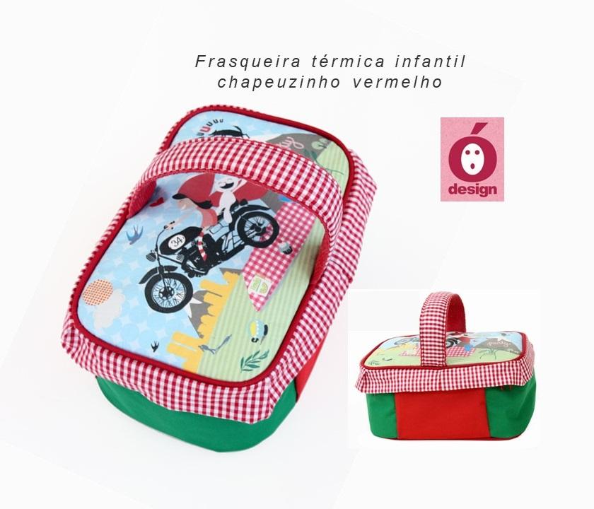 Frasqueira Térmica Infantil Chapeuzinho Vermelho, da Ó Design - Cód. OD-TICV