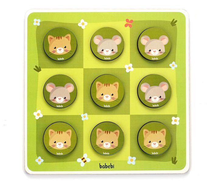 Jogo da Velha entre Gato e Rato, da BaBeBi - Cód. 6036