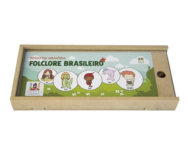 Jogo da Memória em Madeira - Folclore Brasileiro, da Fábrika dos Sonhos - Cód. FS42