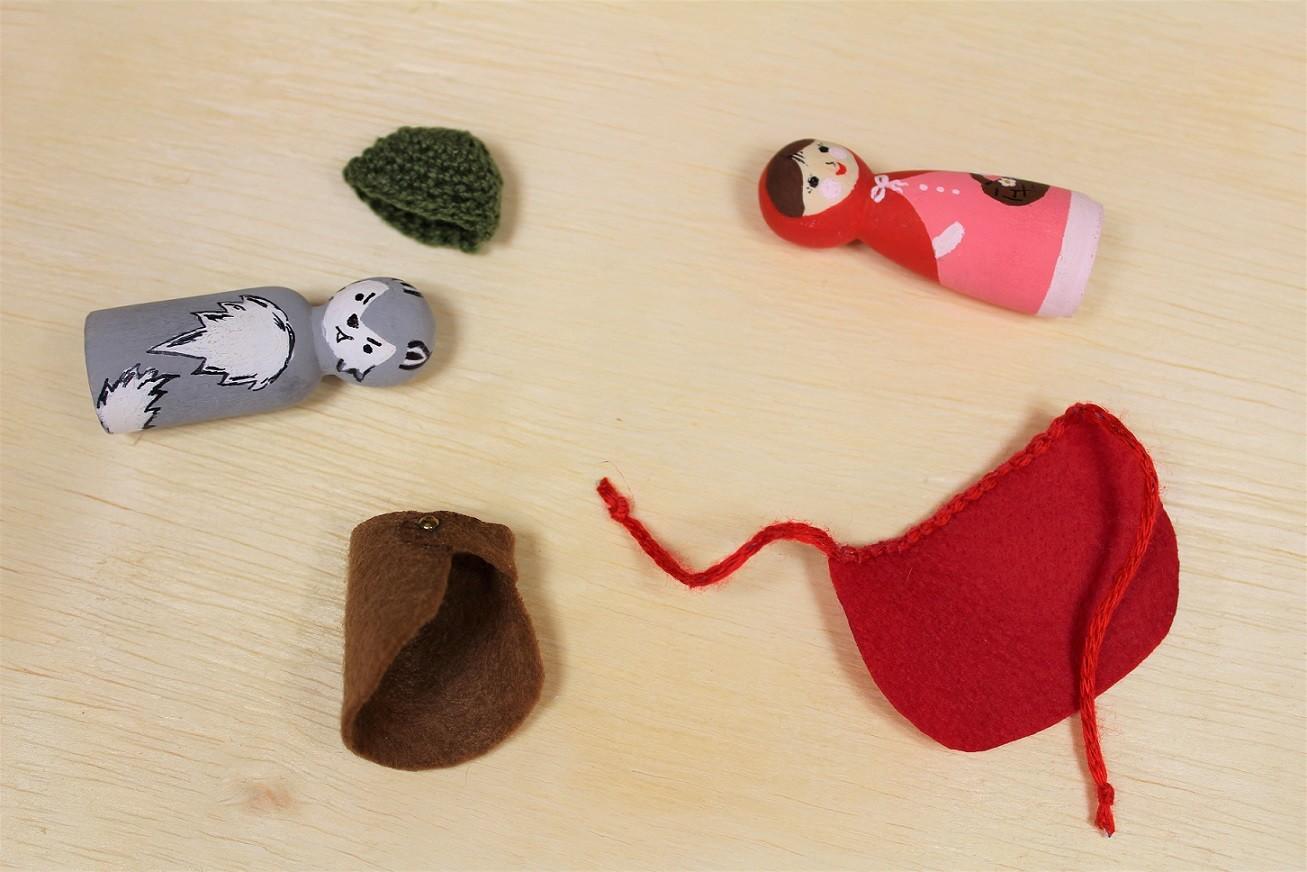 Kit brinquedos do Chapeuzinho Vermelho - Cód. Peg-011