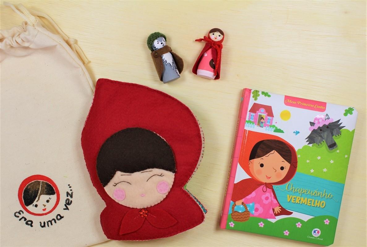 Kit para Educadores, Quiet Book do Chapeuzinho Vermelho, COM livro impresso - Cód. Peg-011 + LP010