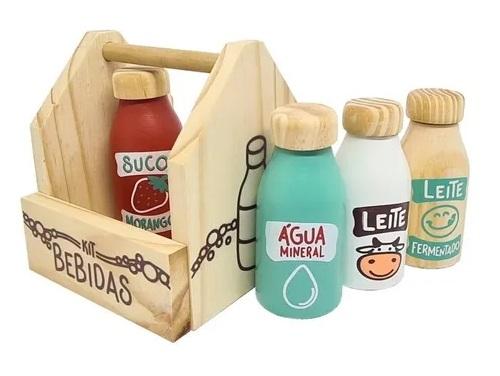 Kit de Bebidas da Coleção Comidinhas da NewArt - Cód. 373