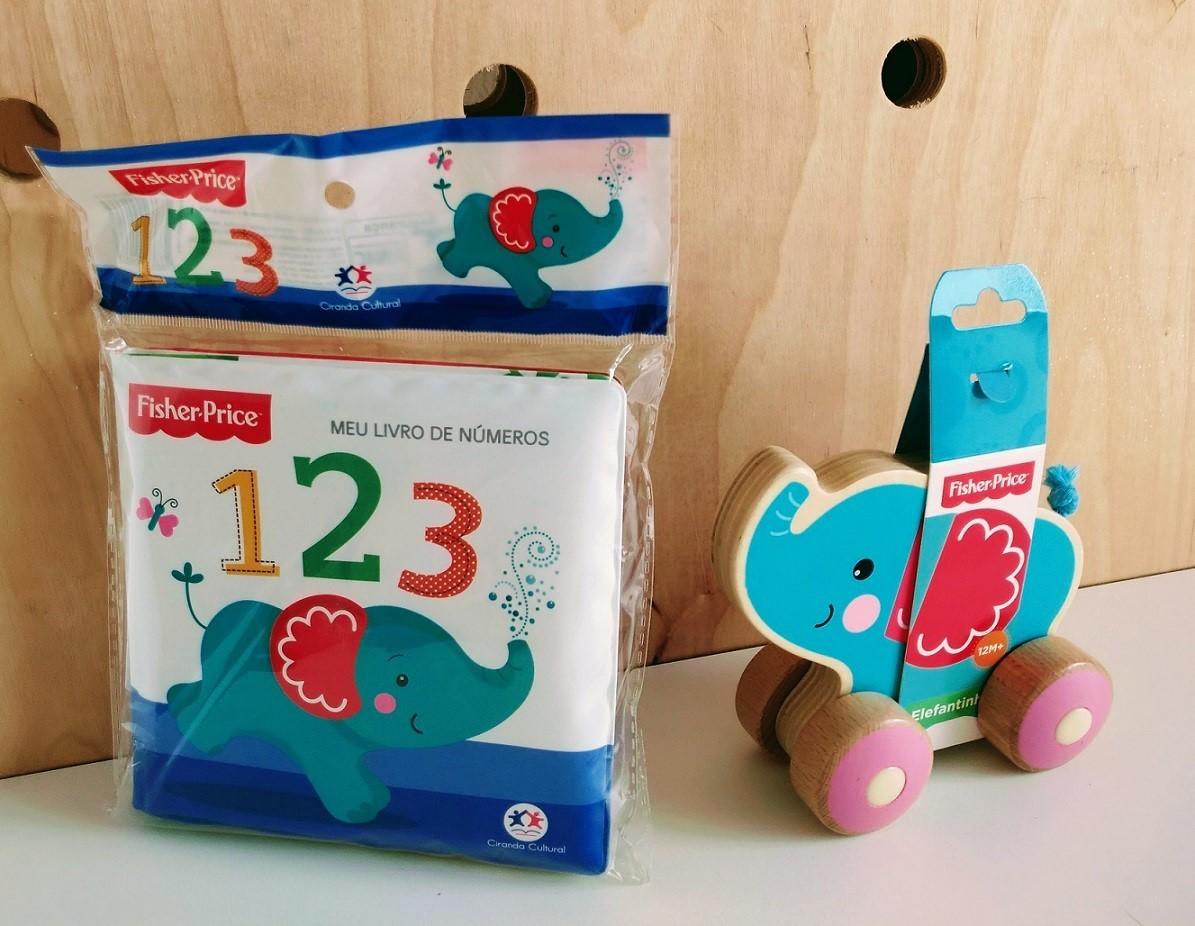Kit Livro + Brinquedo, da Fisher-Price - Cód. BR984 + LP011