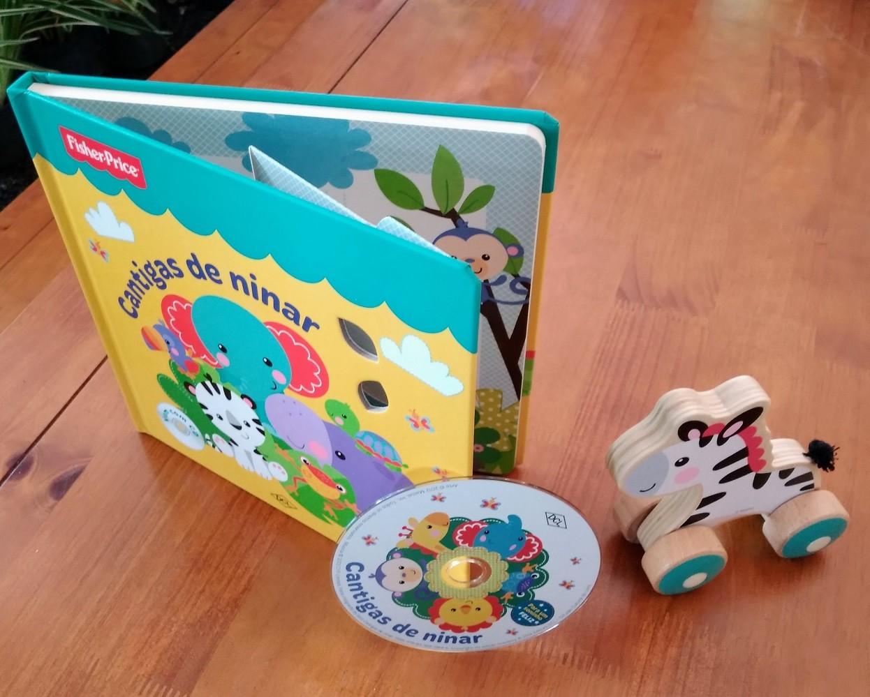 Kit Livro + Brinquedo, da Fisher-Price - Cód. BR986 + LP003