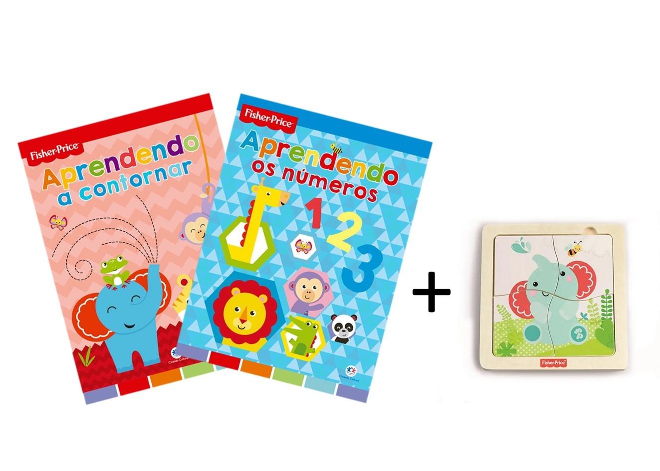 Kit Livro + Brinquedo, da Fisher-Price - Cód. BR989 + LP014 + LP016