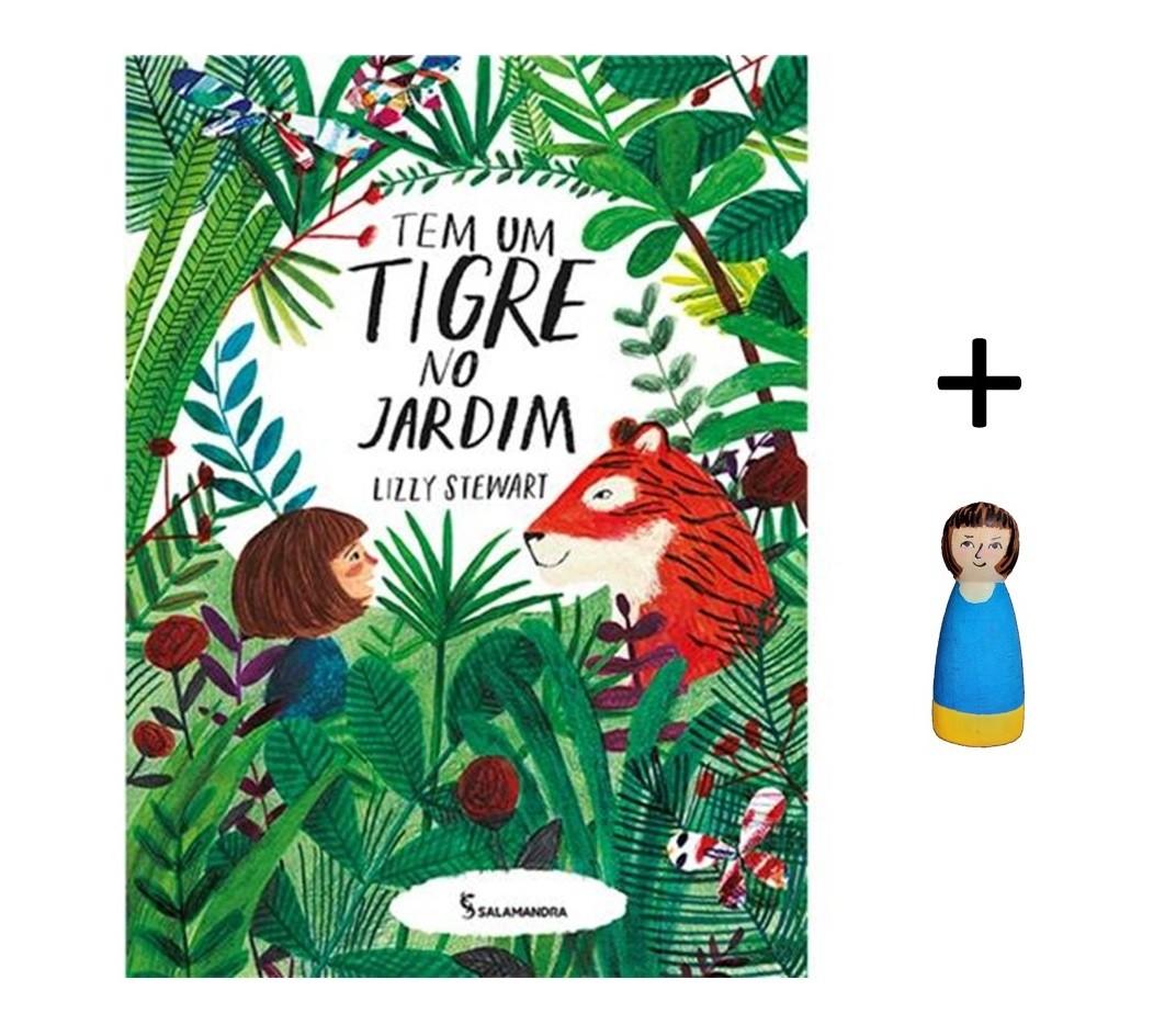 Kit Livro + Peg Doll - Tem um Tigre no Jardim - Cód. LP019