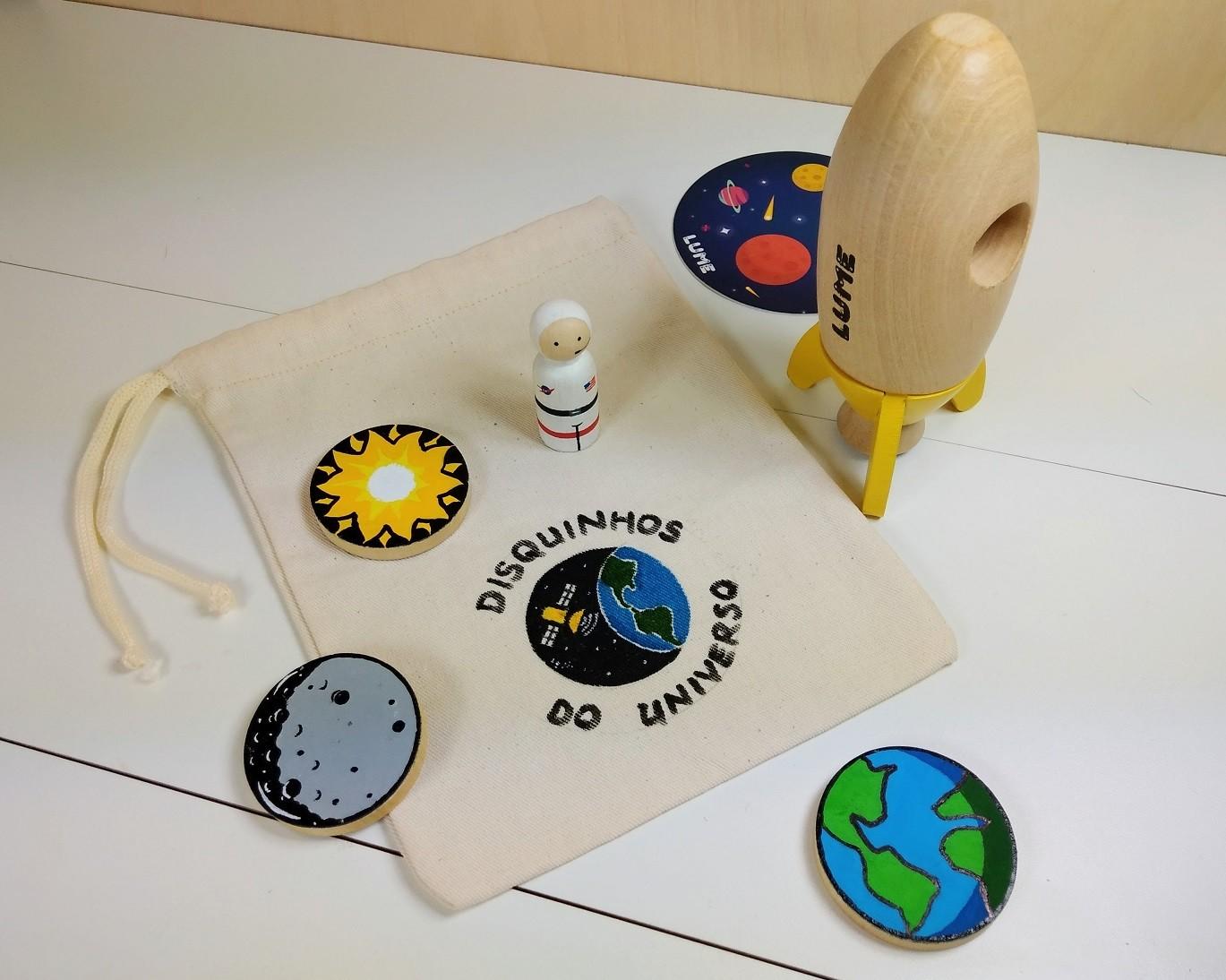 KIT Minifoguete (da Lume) e Disquinhos do Universo - Cód. LM-63 + Peg-008