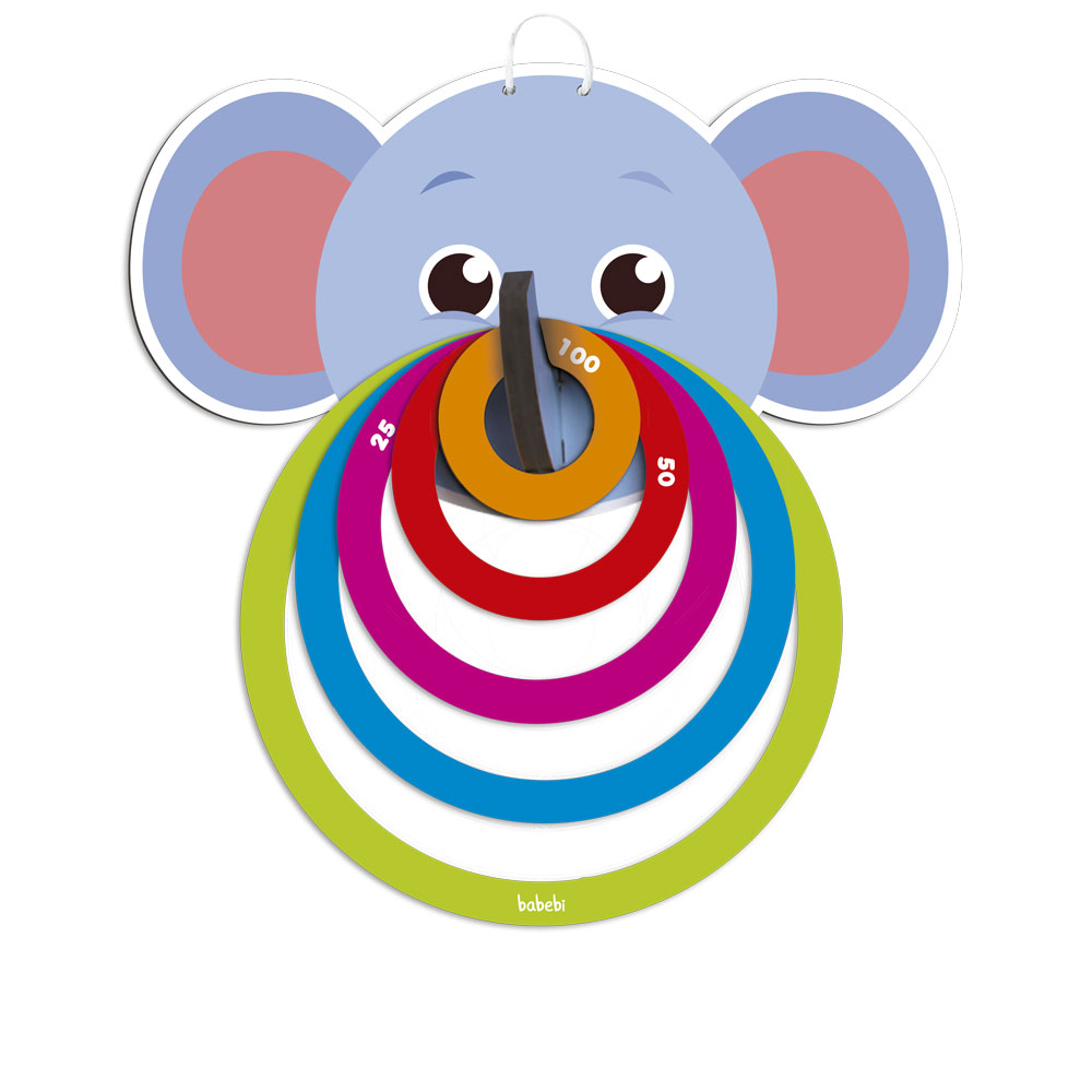 Lança Argolas Elefantinho, da BaBeBi - Cód. 6052