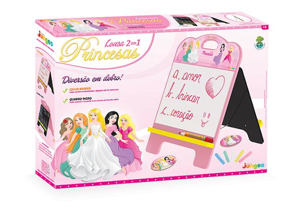 Lousa 2 em 1 – Princesas, da Junges - Cód. J-348