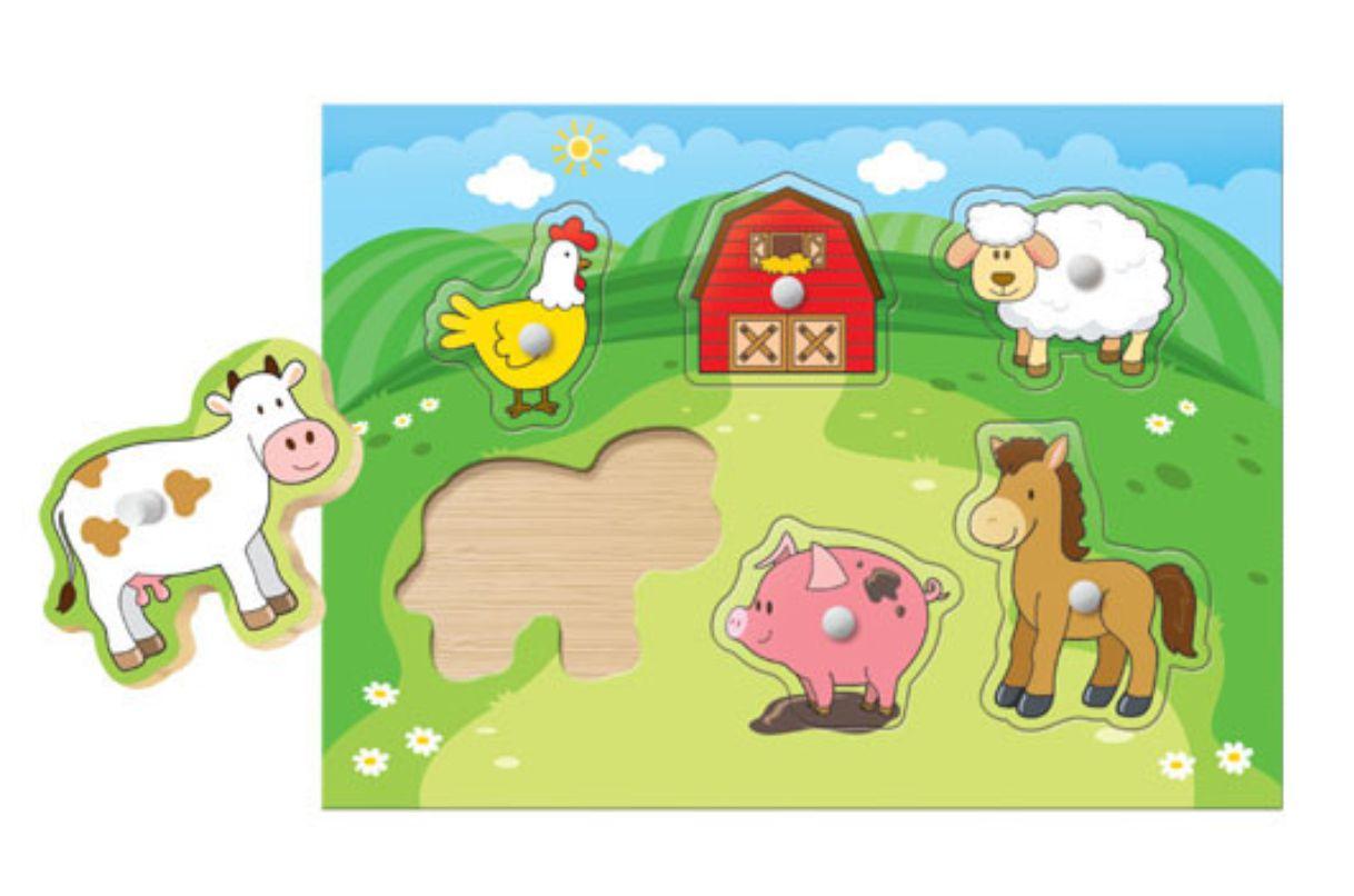 Meu Primeiro Quebra-Cabeça - Bichinhos da Fazenda, da BaBeBi - Cód. 8003