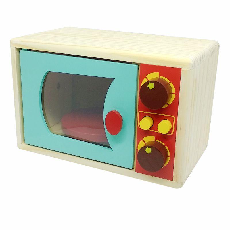 Micro-ondas (de madeira), da NewArt - Cód. 461