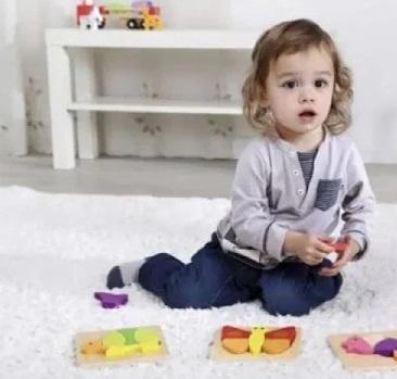 Mini Brinquedo de Madeira, de Encaixe - Borboleta, da Tooky Toy - Cód. TKG012
