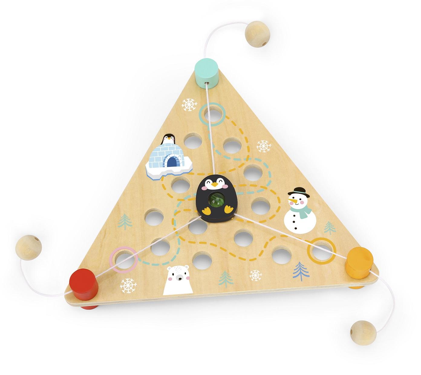 Pinguim Aventureiro, de Madeira, da Tooky Toy - Cód. TF931