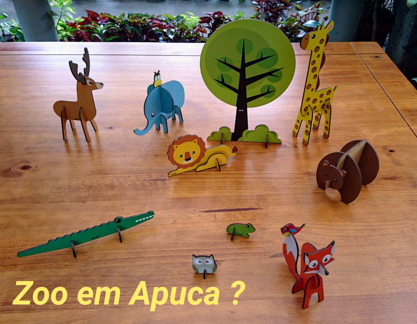 Quebra-Cabeça 3D Animais da Savana, da BaBeBi - Cód. 6008
