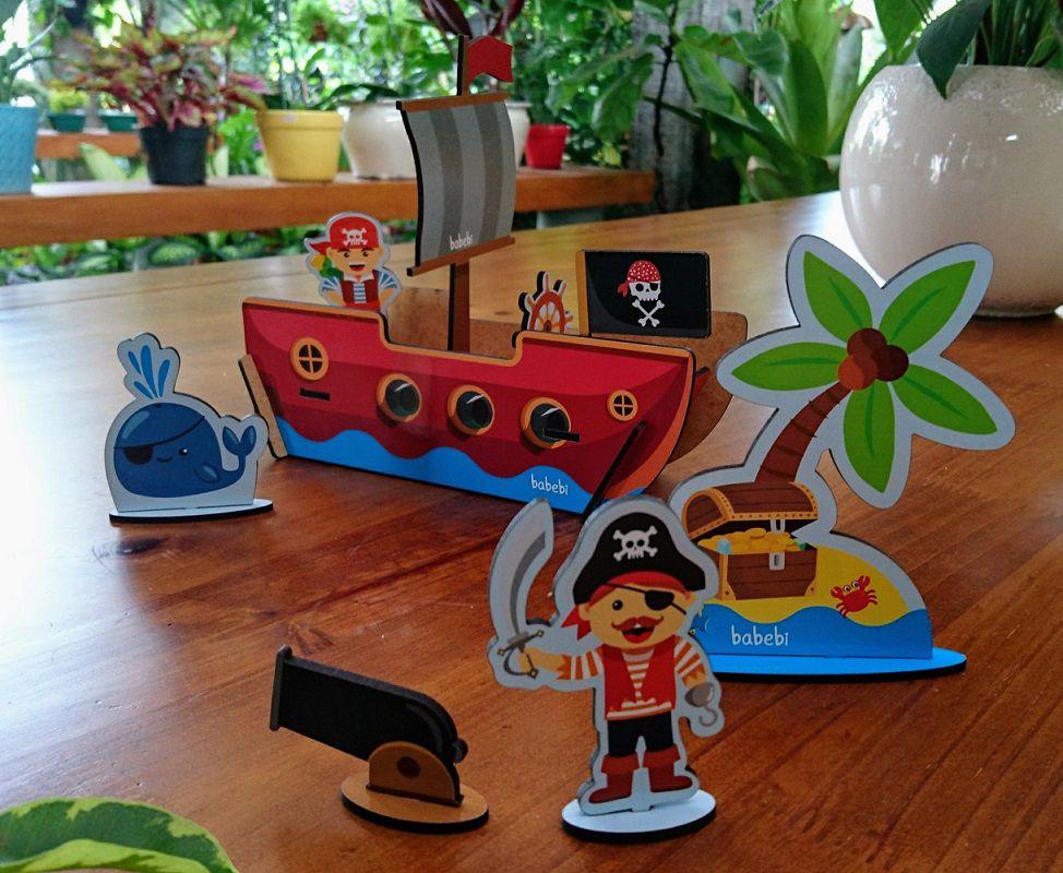 Quebra-Cabeça 3D Piratas, da BaBeBi - Cód. 6006