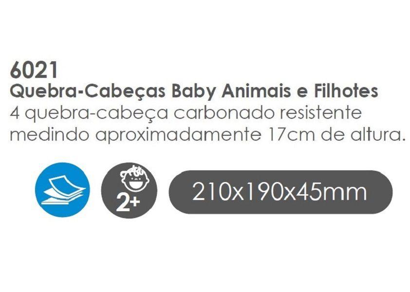 Quebra-Cabeça Baby Animais e Filhotes, da BaBeBi - Cód. 6021