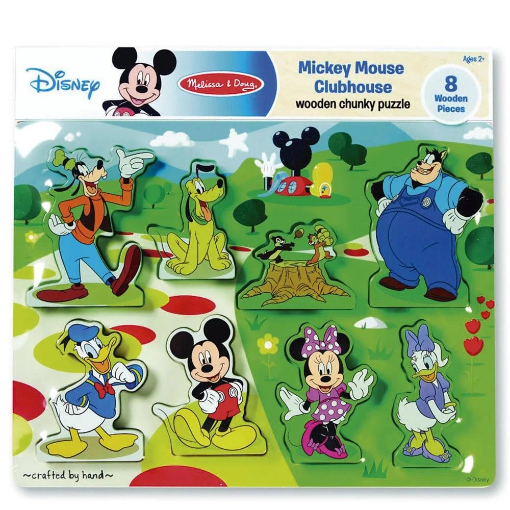Quebra-Cabeça de Encaixe de Madeira - Disney Mickey Mouse, da Melissa And Doug - Cód. 7184