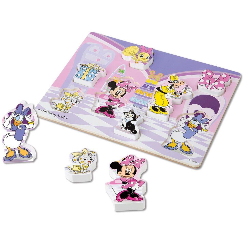 Quebra-Cabeça de Encaixe de Madeira - Disney Minnie Mouse, da Melissa And Doug - Cód. 7190