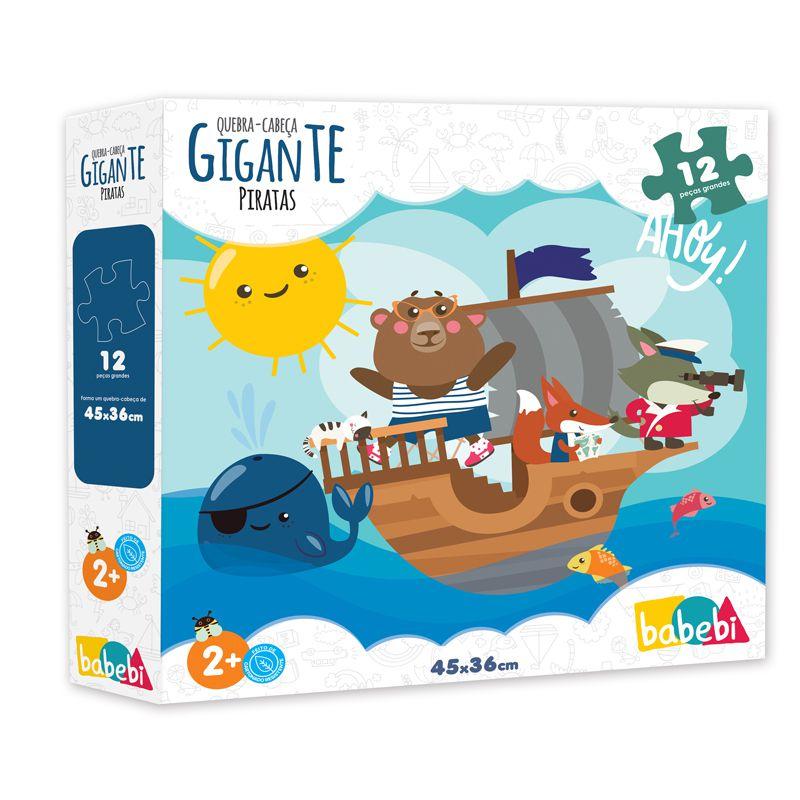 Quebra-Cabeça Gigante Piratas, da BaBeBi - Cód. 6026