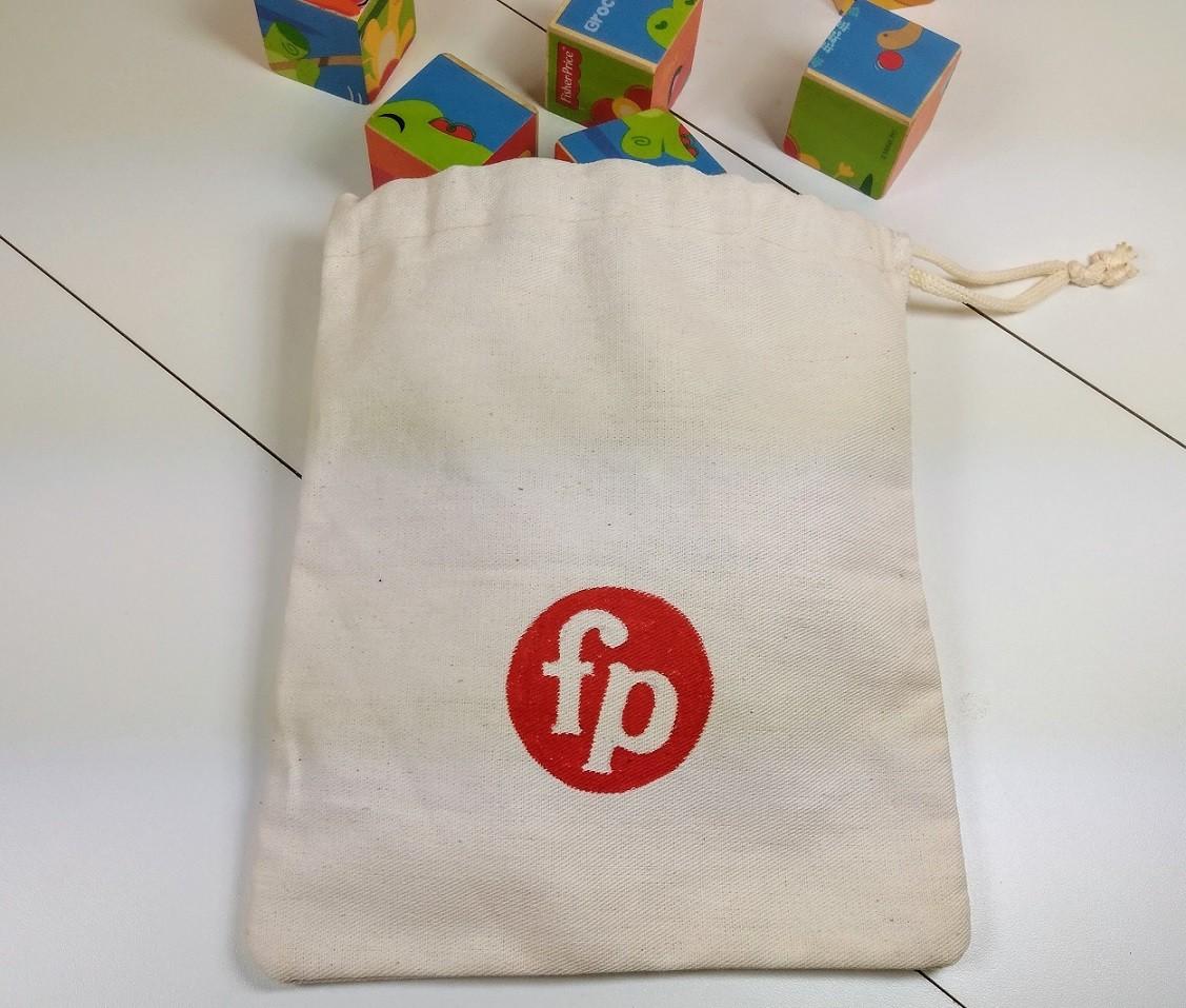 Saquinho de algodão cru para (alguns) brinquedos da Fisher-Price - Cód. Peg-009