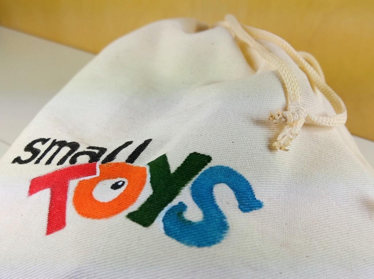 Saquinho de algodão Small Toys para guardar brinquedos - Cód. Peg-012