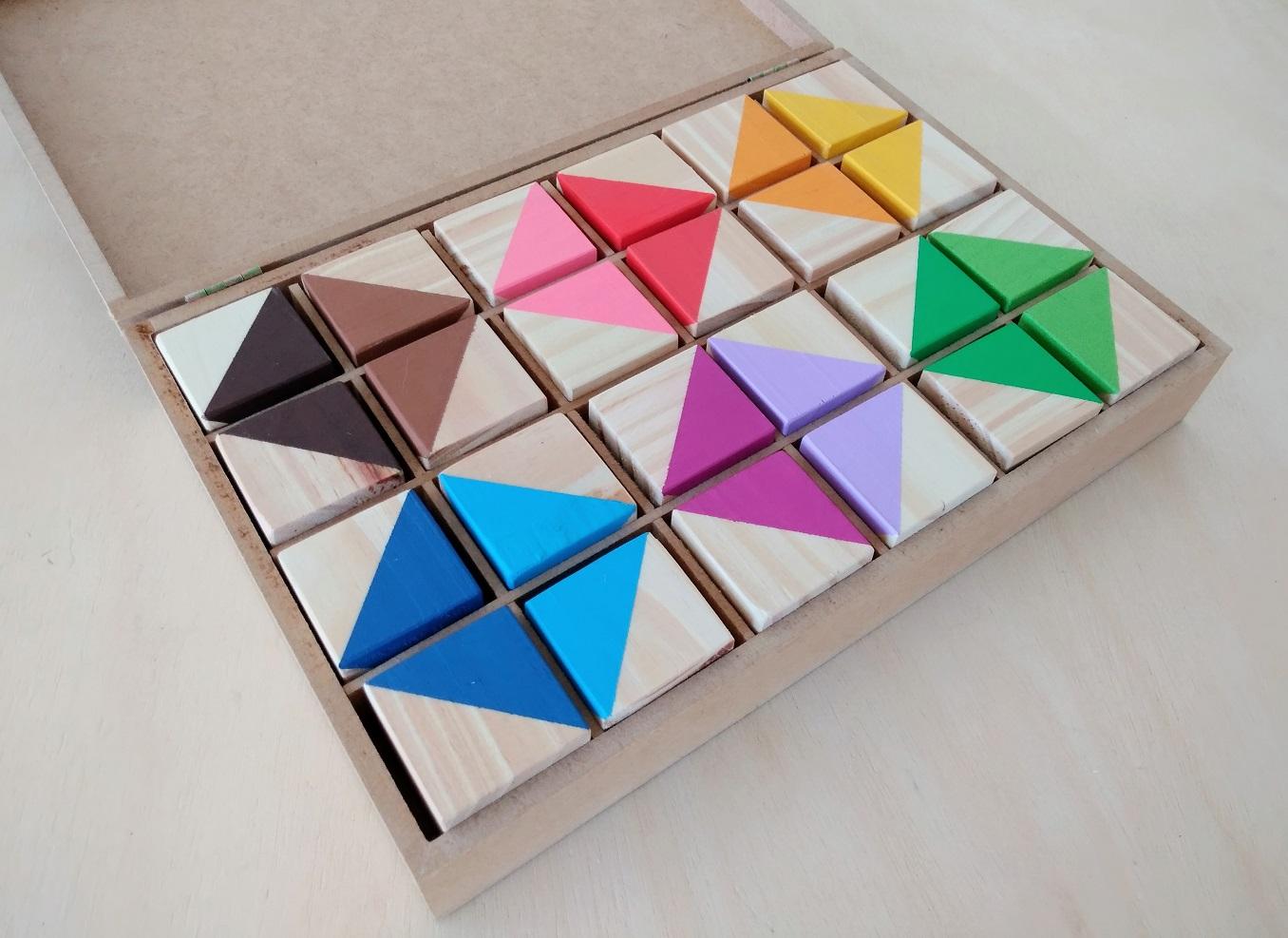 Segunda Caixa de Cores Montessori (similar), com 24 Cubos Coloridos, da Cute Cubes - Cód. CC302