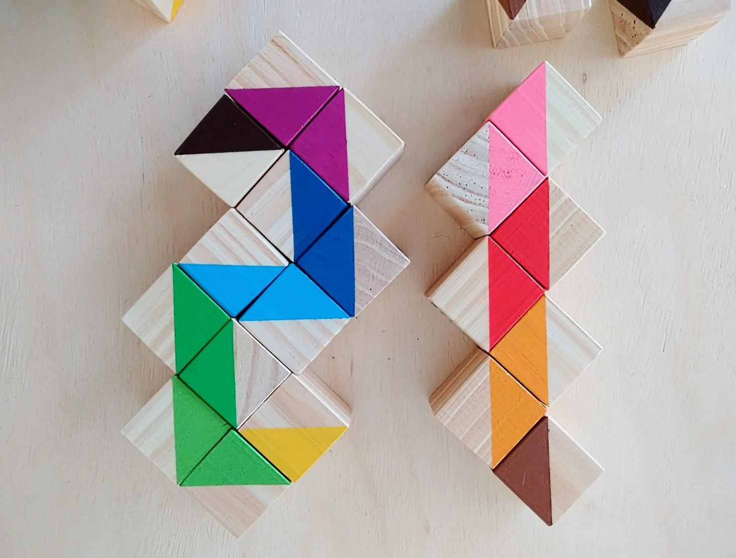 Segundo Saco de Cores Montessori (similar), com 24 Cubos Coloridos, da Cute Cubes - Cód. CC303