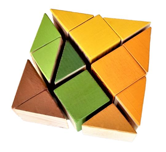Tangram 3D Cubos de Madeira - Animais, da Cute Cubes - Cód. CC500