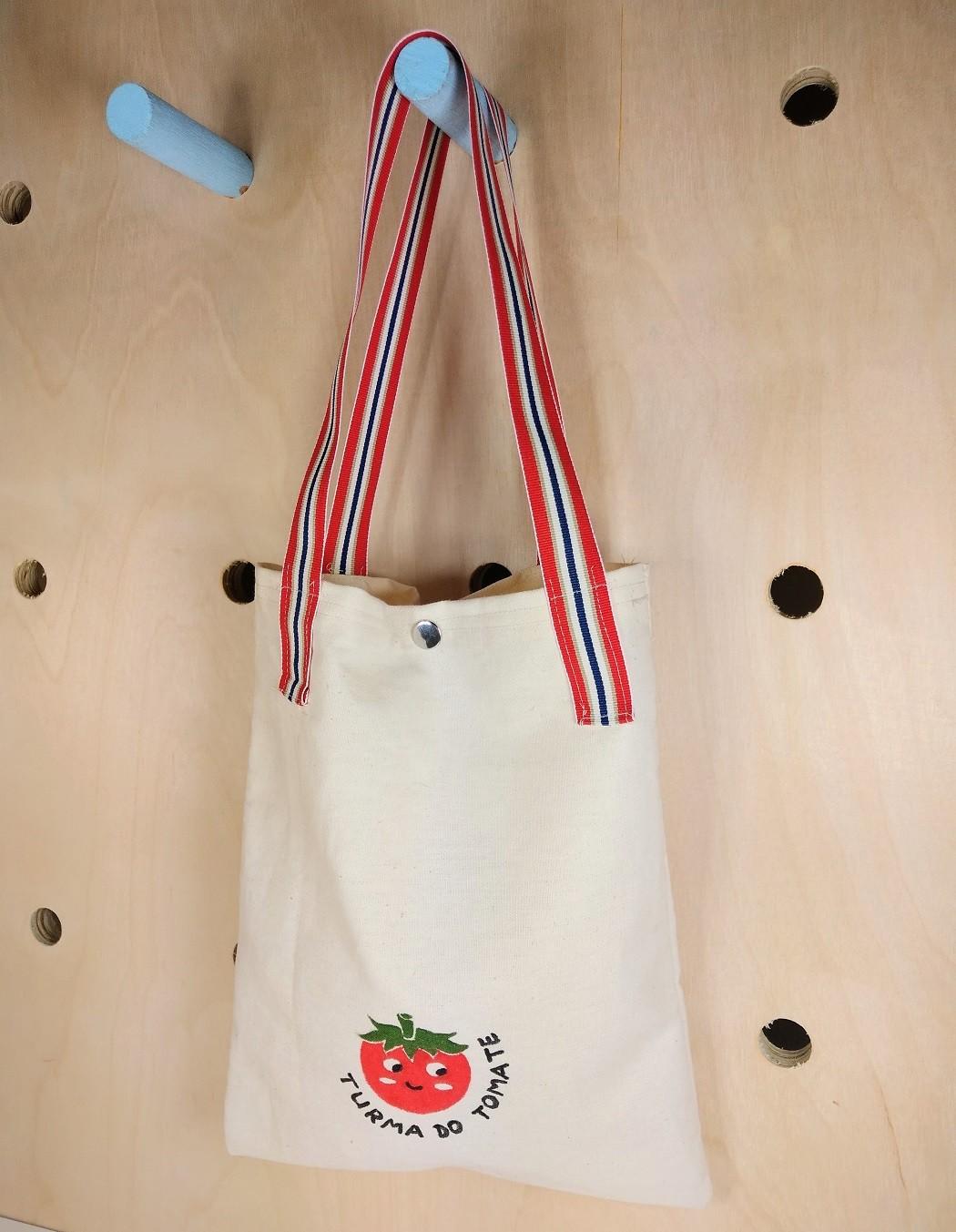 Tote Bag - Saquinho de algodão Turma do Tomate - Cód. Peg-010