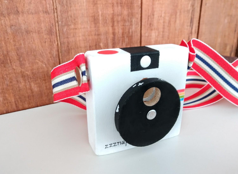 zzznap !  Minicâmera de madeira CuteCam zzznap, da Cute Cubes - Cód. CC006