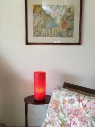 Luminária de Mesa Píccola Aberta Vermelha