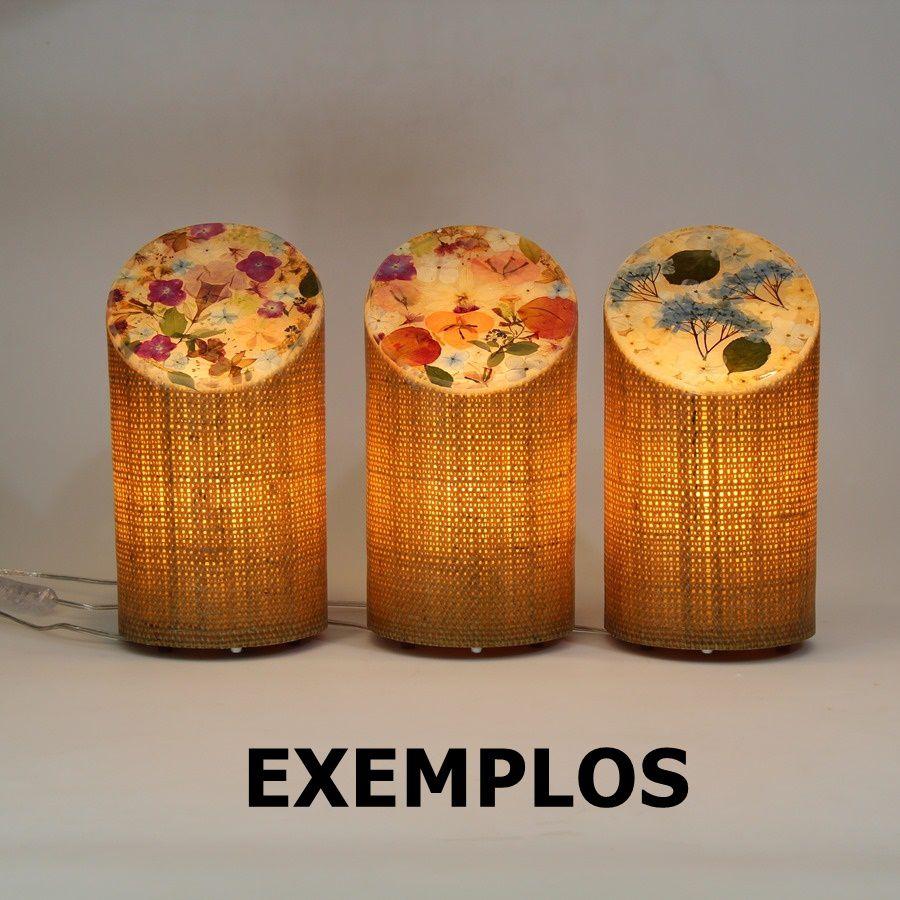 Luminária de mesa Matita Flores Peça #011