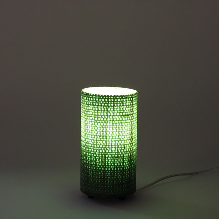 Luminária de Mesa Mini Verde