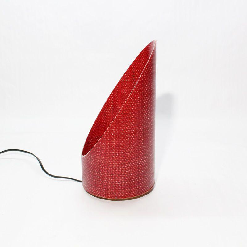 Luminária de Mesa Oblique Vermelha