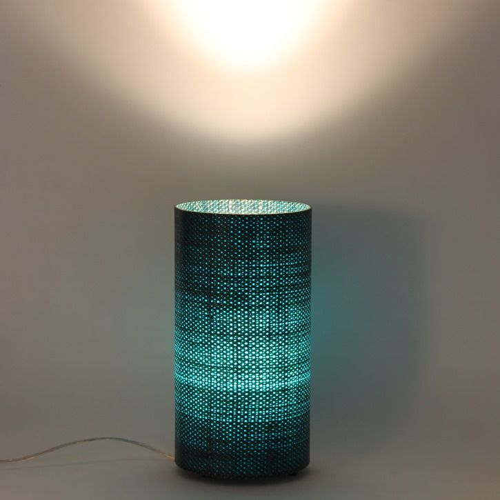 Luminária de mesa Píccola Aberta Azul Turqueza