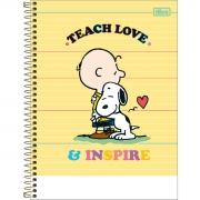 Caderno Colegial Snoopy 1 Matéria Tilibra