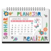 Calendário de Mesa Fina Ideia Frases Coloridas