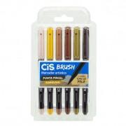 Estojo Cis Brush Pen Aquarelável - Tons de Pele 6un
