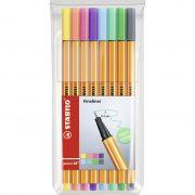 Estojo Stabilo Point 88 Pastel Colors - 8 Cores