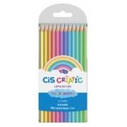 Lápis de Cor Pastel CIS Criatic 12 Cores