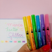 Marca Texto Glitter Molin Kit 6 Unidades