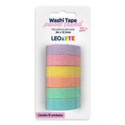 Washi Tape com Glitter