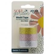 Washi Tape Soul Garden Glitter 3un Jocar Office